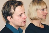 Na tiskovou konferenci k filmu Tři sezony v pekle do Plzně zamířil i představitel hlavní role Kryštof Hádek a producentka Monika Kristl.