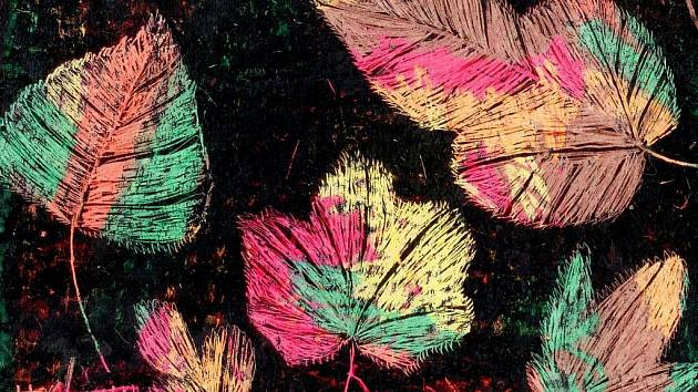 Obrázek pojmenovaný Podzim od Kristýny Kuté ze čtvrté třídy bude mezi díly, která představí 25. základní škola z Chválenické ulice v Plzni. Výstava prací jejích žáků se otevře v úterý v Galerii InterCora v plzeňském centru Area Bory