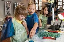 Worshopy na Animánii dávají dětem možnost, vyzkoušet si tvorbu zajímavými výtvarnými technikami
