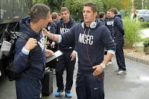 Fotbalisté Manchesteru City v Plzni