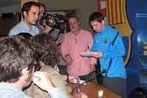 Lionel Messi na tiskové konferenci