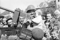 Osvobození v květnu 1945 ve Spáleném Poříčí.