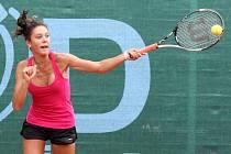 Gruzínská tenistka Mariam Bolkvadze (na snímku) podlehla ve včerejším třetím kole dvouhry na mistrovství Evropy jednotlivců do 14 let v Plzni na Borech páté nasazené Slovence Viktorii Kuzmové hladce 1:6, 3:6 a s turnajem se musela rozloučit