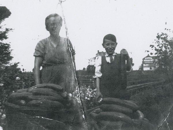 Snímek zachycuje Ludvíka Fišera smaminkou