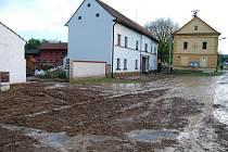 Prudký déšť vyplavil Úlice na Plzeňsku