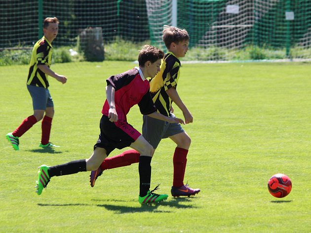 Fotbal, krajský přebor st. žáků: Luby (žlutí) - Horažďovice