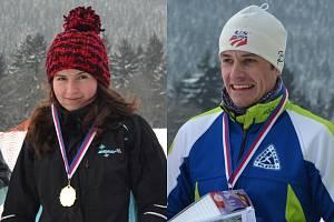 Kateřina Beroušková (na snímku vlevo) a Vladislav Razým mladší (vpravo) z plzeňského Sport Clubu nenašli při  letošním závodě 15 km Šumavou  přemožitele
