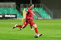 FOTBALISTKA MIROSLAVA MRÁZOVÁ zasáhla do obou kvalifikačních zápasů ženské reprezentace.