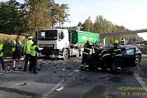Nehoda na silnici I/27 mezi Plzní a Třemošnou