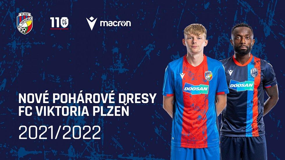 Fotbalová Viktoria Plzeň odhalila v pondělí před polednem podobu dresů pro nadcházející sezonu 2021/2022