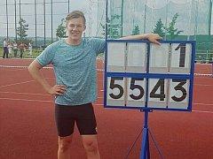 Diskař plzeňské Škodovky Michal Forejt vytvořil výkonem 55,43 metru nový krajský rekord