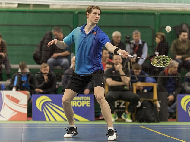 ČESKÝ REPREZENTANT Jan Louda zUSK Plzeň dominoval na mezinárodním turnaji zařazeném do elitního badmintonového okruhu.Foto: Badminton Europe/Mark Phelan