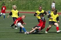 Celostátní finále fotbalového turnaje školních týmů pro žáky čtvrtých a pátých tříd hostí v pondělí 8. června a v úterý 9. června Městský stadion ve Štruncových sadech v Plzni. Ilustrační foto.