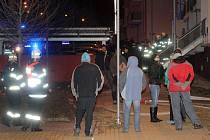 Požár garáží v Plzni.