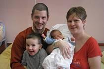 Tadeáš (3,13 kg, 50 cm) se narodil 6. ledna ve 2:03 ve Fakultní nemocnici v Plzni. Na světě jej přivítali rodiče Dana a Martin Tobrmanovi z Plzně a bráška Robin (2 a tři čtvrtě)