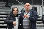 Vlevo je italský tenorista Paolo Lardizzone, vpravo člen plzeňské opery Jevhen Šokalo.