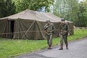 Tábor 16. obrněné divize US Army a Čs. samostatné obrněné brigády, RAF a WAAF