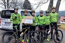 Mladí závodníci Roman Kreuziger Cycling Academy  na úvodním soustředění na Šumavě.