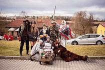 Masopustní průvod v Kaznějově 2020.