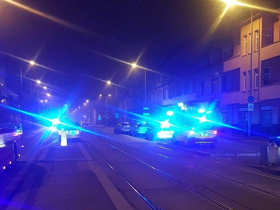 Požár penzionu v Plzni na Borech.