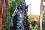Kostým Saurona z Pána prstenů, na kterém pracoval Jiří Baloun z Třemošné zhruba dva měsíce.