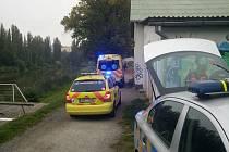 Zásah záchranné služby na nábřeží Radbuzy v Plzni