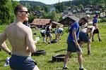 Hokejoví Indiáni trénují na Šumavě