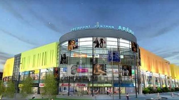 Možná podoba komplexu Aréna, který plánuje postavit společnost Amádeus Real na místě Domu kultury Inwest