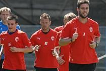 Vladimír Darida (vpředu vlevo) při tréninku Viktorie Plzeň