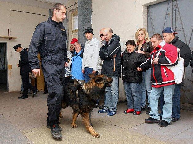 Bohatý program připravili v pondělí policisté z kynologického oddělení pro dvanáct klientů stodského domova pro zdravotně postižené
