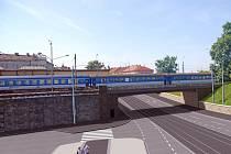 Druhý z  železničních mostů přes Mikulášskou třídu, který se bude opravovat.