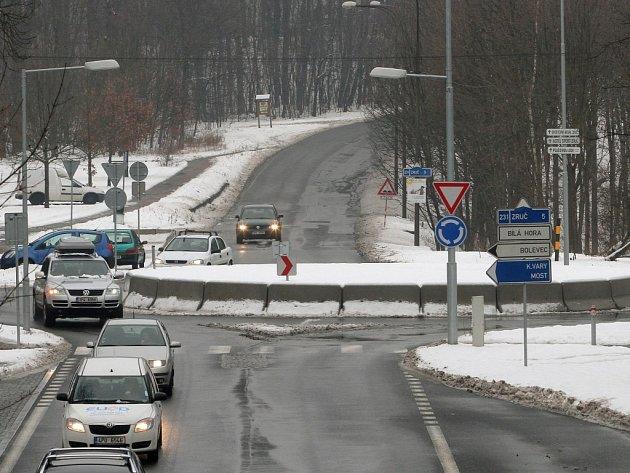 Objezd na Bílé hoře U Soušků funguje od loňského června a je zatím nejmladším fungujícím objezdem v Plzni