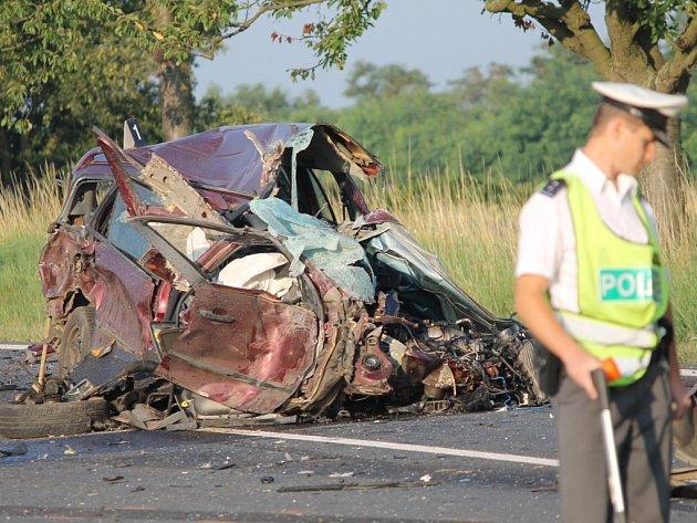Páteční ranní nehoda dvou nákladních a jednoho osobního automobilu u Chotěšova.