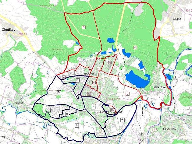 Mapa nových obvodů