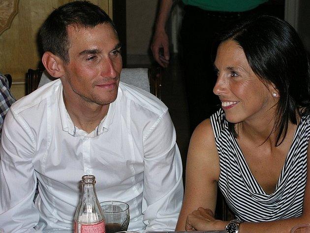 Roman Kreuziger, na snímku s manželkou Michaelou