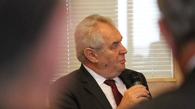 Prezident Miloš Zeman na návštěvě Plzeňského kraje v roce 2014