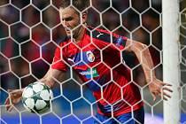 Marek Bakoš vstřelil Teplicím jediný gól zápasu.