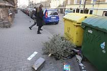 Nepořádek v plzeňských ulicích