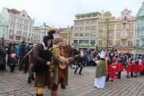 Tříkrálový průvod vyšel v neděli z plzeňského náměstí Republiky