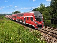 Podoba nových vlaků, které pro Deutsche Bahn vyrobí Škoda Transportation