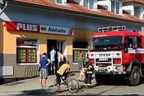 Ve Stodu hořela v neděli v noci vietnamská prodejna Plus.