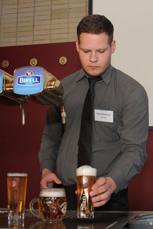 Soutěž v čepování piva Plzeňský korbel