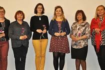 Na snímku zleva: Tamara Kopřivová, Vlasta Špinková, Markéta Jansová, Jarmila Flaková, Jaroslava Málková a Vlaďka Bauerová