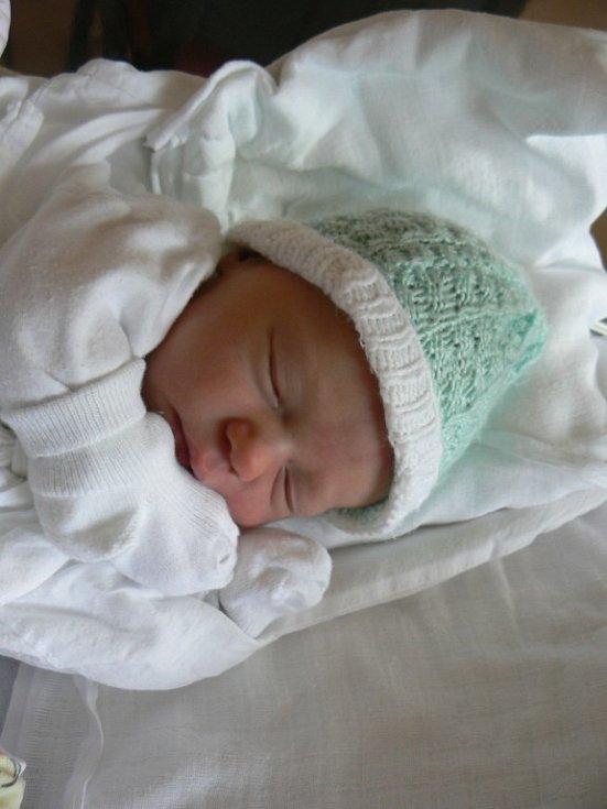 David Fictum (3,56 kg, 51 cm) zManětína, který je prvorozeným synem manželů Lenky a Mariana, se narodil 9. května v9:48 hod. ve FN vPlzni