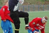 Fotbalistky Viktorie Plzeň (v červených dresech) v sobotu doma v Plzni vyhrály nad Pardubicemi 3:0.