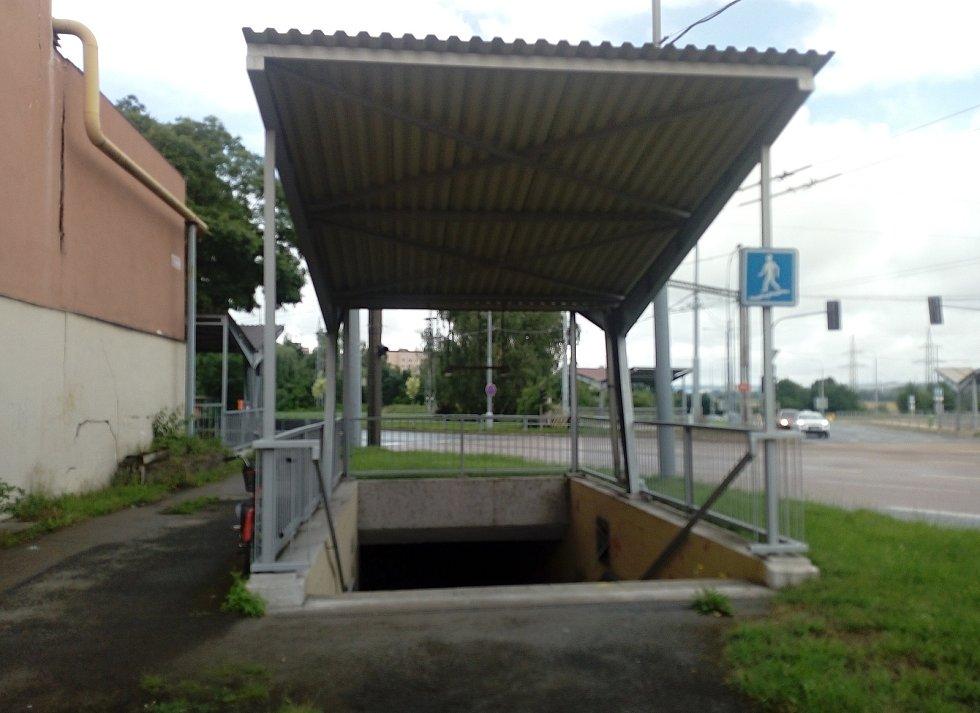 Podchod u škodovácké 7. brány.