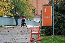 Srdeční procházková trasa v areálu bývalého výstaviště za centrem Plaza v Plzni.