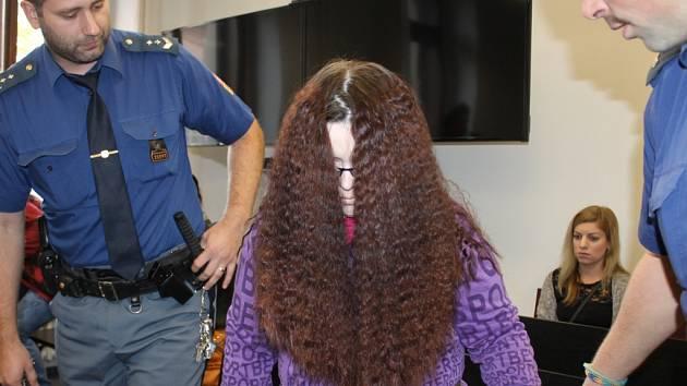 Zdenka M. skrývala před novináři obličej.