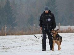 Kynologický závod Statečné psí srdce v Blovicích. Na snímku Petr Uher