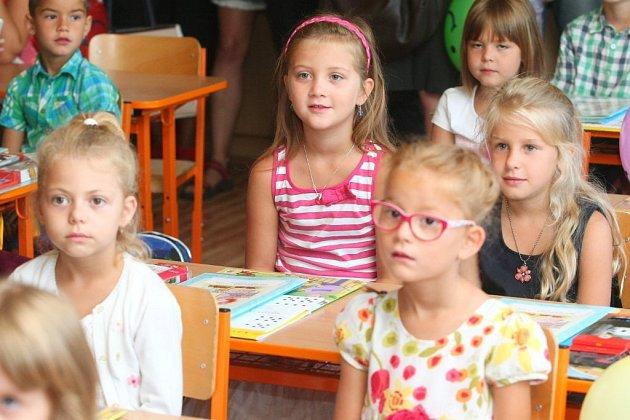Barunka Sojková poprvé usedla do lavice plzeňské 25.základní školy.